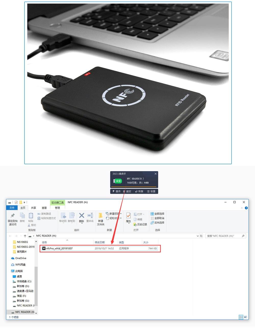 Hc323264380bf4608a2da625b54531e1bX RFID Copier Duplicator 125KHz Key fob NFC Smart Card Reader Writer 13.56MHz Encrypted Programmer USB UID T5577 EM4305 Cards Tags