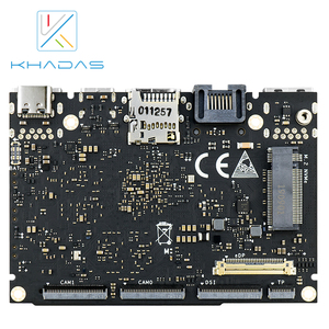 Image 2 - Khadas ordenador de placa única, SBC Edge V Pro RK3399 con DDR4 de 4G + 32GB EMMC5.1