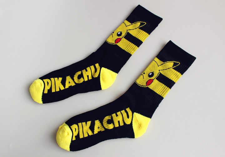 Harajuku Anime Pokemon Go Kawaii Pikachu Cosplay Puntelli Ginocchio-Alta Calzini E Calzettoni Per Bambini di Età Cotone Calze E Autoreggenti Tubo Casual Calzino Della Caviglia