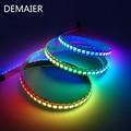WS2812B Smart pixel led streifen licht; 1m/2m/3m/4m/5m WS2812 IC;30/60/144 pixel Adressierb PCB IP30/65/67 Smart RGB Led Licht