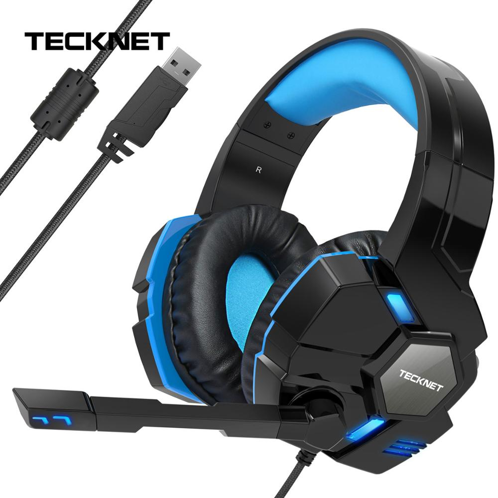 TeckNet Gaming Headphones 3D Stereo Sound Wired Headphones with Microphone for PS4 Phone PlayStation PC Laptop Tablet Gamer in Phone Earphones Headphones from Consumer Electronics
