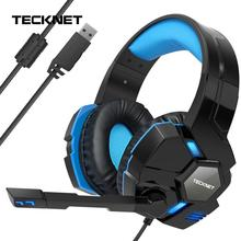 TeckNet Gaming Headset Headphone 3DStereo Sound Wired with Microphone for PS4 Phone PlayStation PC Laptop Tablet Gamer