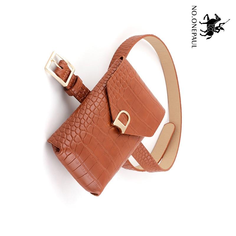 NO.ONEPAUL Women Fashion Women's Belt Bag Square Pin Buckles Belt Female Deduction Side Gold Buckle Jeans Wild Belts For