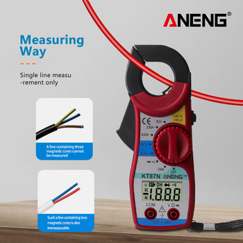 цена на ANENG KT87N 1PC LCD Digital Multimeter Amper Clamp Meter Current Clamp Pincers AC/DC Current Voltage Tester 3 Colors