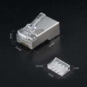 Image 4 - AUCAS CAT 6 Rj45 Connector Lan Cable External HDs Computer Accessories Computer Components Wiring Tester Tool Kit Mikrotik Keyst