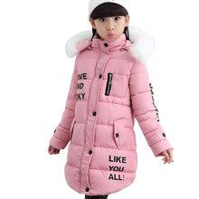 Abrigo de invierno para bebés, abrigo para niñas, Parkas para adolescentes, rompevientos, chaquetas para niñas, ropa de invierno para niños de 6, 8, 10, 12 y 14