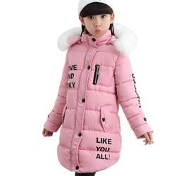Winter Baby Down Coat Child Outerwear Overcoat Girls Parkas Teenager Windbreaker Girls Jackets Kids Winter Clothes 6 8 10 12 14