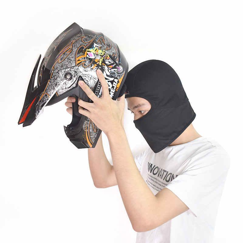 WOSAWE nefes örgü erkek motosiklet kask iç kapakları Anti-Sweat maskesi şapka Motocross sürme kayak kask altında astar kapağı