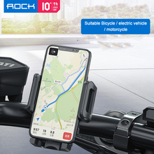 ROCK Bike Bicycle Holder Anti Slide Handle Phone Stand Mount Cellphone GPS Bracket Cycling Accessories Motor