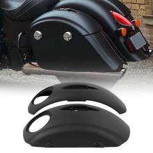 Motocyklowe sakwy pokrywa głośnik Audio wycięcia dla Indian Chieftain 2014-2018 tanie tanio Skóra i torby siodle TCMT 0inch CN (pochodzenie) Saddlebag XF2906F18-06 as show