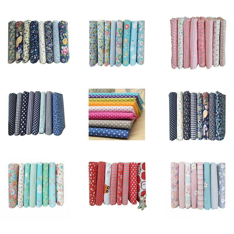 DIY  25x25cm Mix Color Floral Pattern 100% Cotton Pur cut Patchwork Fabric Bundle Sewing Quilting Crafts for Handmade|Fabric| |  - title=