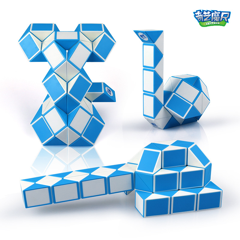 QIYI 24 And 36 Segment Magic Rule Snake Cubes Elasticity Elastic Changed Popular Twist Transformable Kid Puzzle Toy For Children
