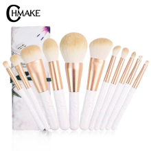 CHMAKE Brushes 11pcs high quality gold resin makeup brush for powder foundation eyebrow blush face cosmetic holder