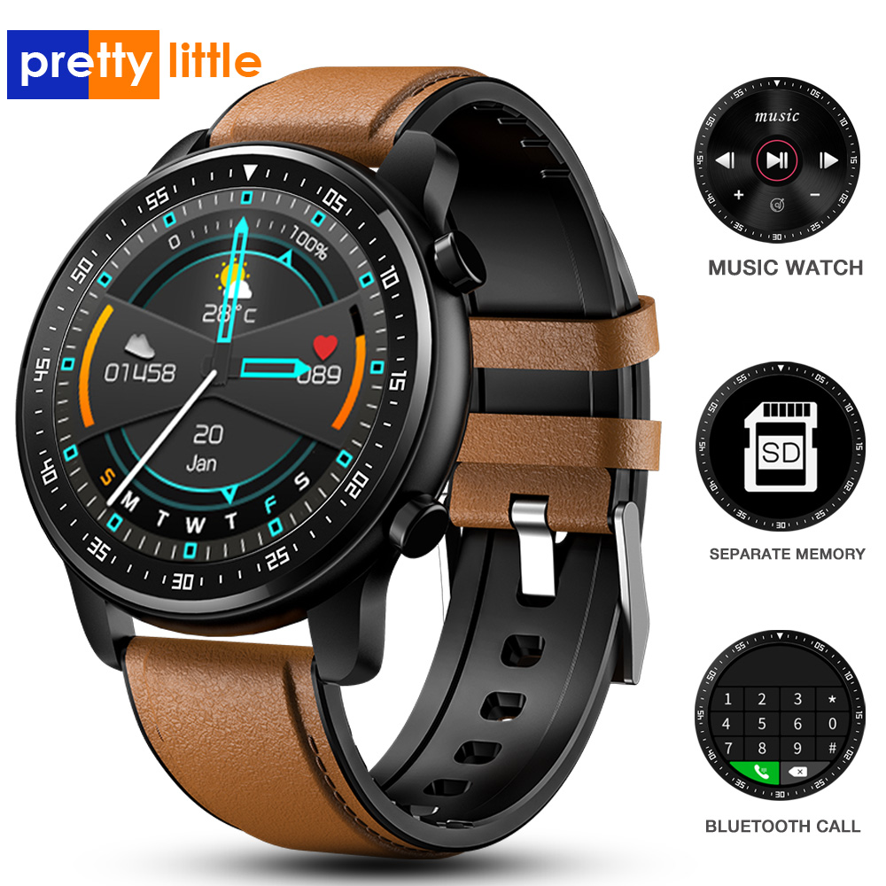 PMTI Music Smart Watch Men Bluetooth Call Waterproof Smartwatch Heart Rate Fitness Tracker sports watchs For IOS Android