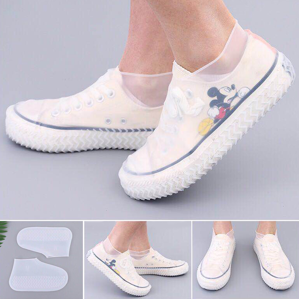 Waterproof Shoe Cover Silicone Material Unisex Shoes Protectors Rain Boots for Indoor Outdoor Rainy Days Reusable