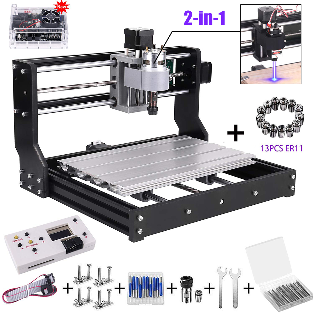 Upgrade CNC 3018 Pro GRBL Control DiIY Mini Machine 3 Axis Pcb Milling Machine Wood Router Laser Engraving With Offline