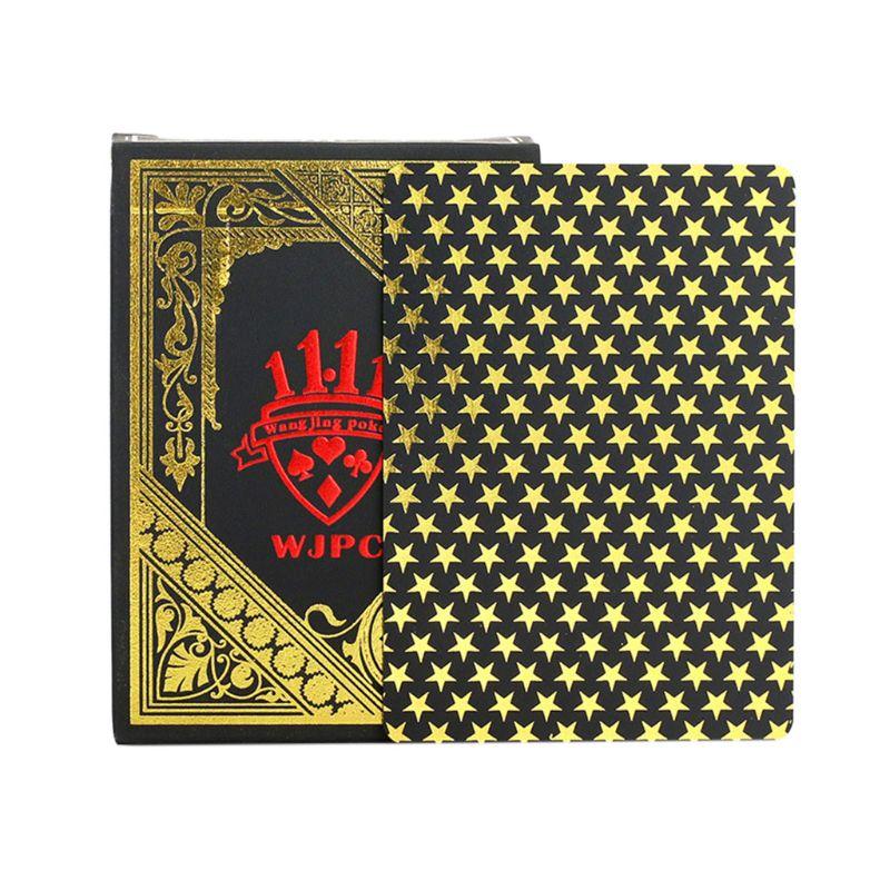 poker preto bronzeamento plástico jogando cartões festa