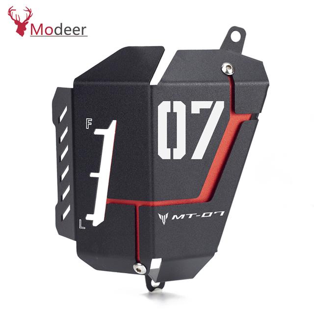 MT07 FZ07 Coolant Recovery Tank Shielding Cover For Yamaha MT-07 FZ-07 MT 07 FZ 07 2014 2015 2016 2017 2018 2019 Guard Radiator