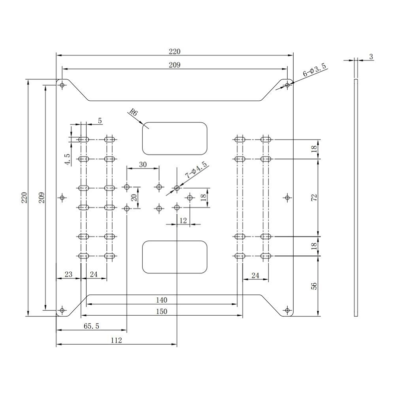 Image 5 - Y Axis Carriage Replacement Upgrade Aluminum Plate for Maker Select, Wanhao Duplicatior I3 and Anycubic I3 Mega 3D Printers-in 3D Printer Parts & Accessories from Computer & Office