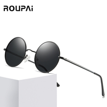 New classic polarizer mens retro round frame sunglasses ladies fashion multicolor colorful brand