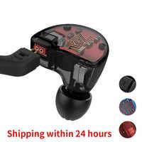 KZ ZS10 Headphones 4BA+1DD Dynamic Armature Earbuds HiFi Bass Headset Noise Cancelling In Ear Monitors hybrid Earphone