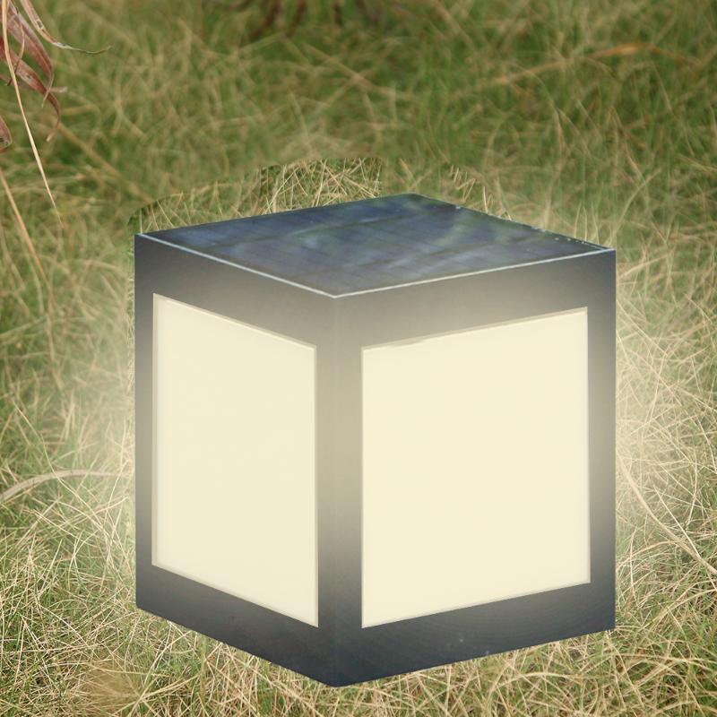 Lâmpada conduzida posta solar do pilar do