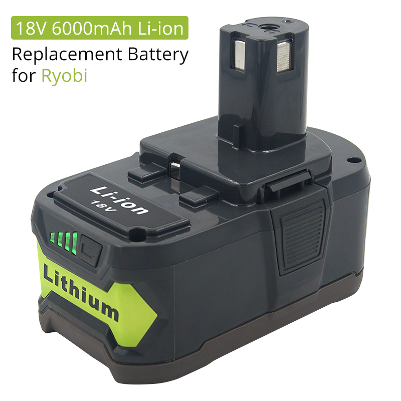 18V 6000mAh Li-ion Rechargeable Battery For Ryobi ONE Cordless Power Tools BPL1820 P108 P109 P106 P105 P104 P103 RB18L50 RB18L40