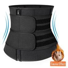 Women Waist Trainer Slimming Sheath Workout Trimmer Belt Latex Tummy Shapewear Sauna Body Shaper Corset Sweat Reducing Girdles