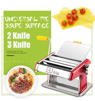 Stainless Steel 2 Blades Pasta Making Machine Manual Noodle Maker Hand Operated Spaghetti Pasta Cutter Noodle Hanger stainless steel 2 blades pasta making machine manual noodle maker hand operated spaghetti pasta cutter noodle hanger