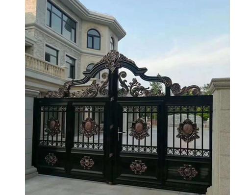 China Elegant Customized Eco-Friendly Metal Gate Main Gate With Opener Motor