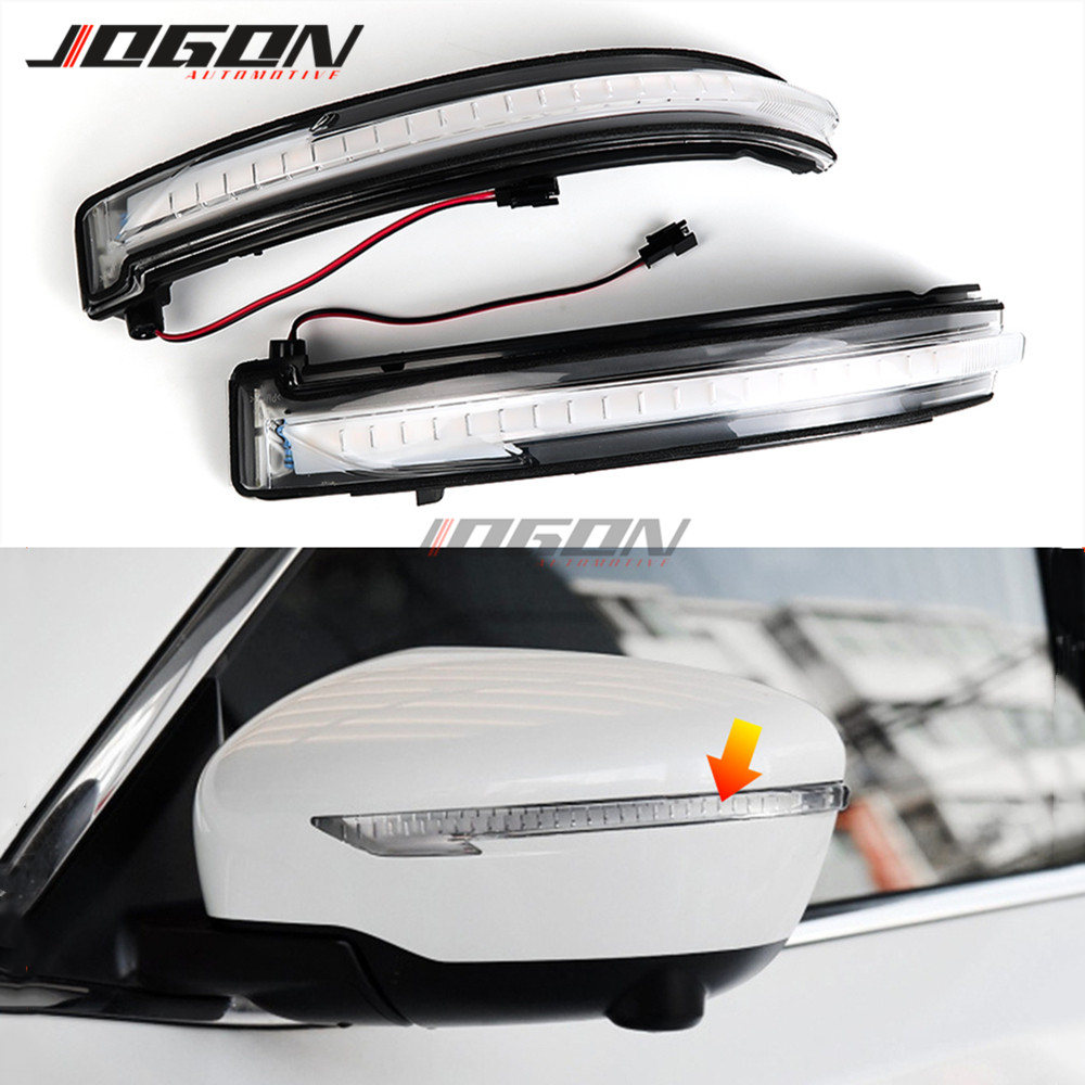 Luz LED intermitente de espejo lateral para coche, indicador de señal de giro dinámico, para Nissan NP300, Navara D23 / Renault Alaskan 2013-2018