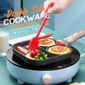 Double Hole Flat Frying Pan Omelet Pan Non-stick Egg Pancake Steak Pan Pancake Maker Home Breakfast Egg Burger Pot Cookware