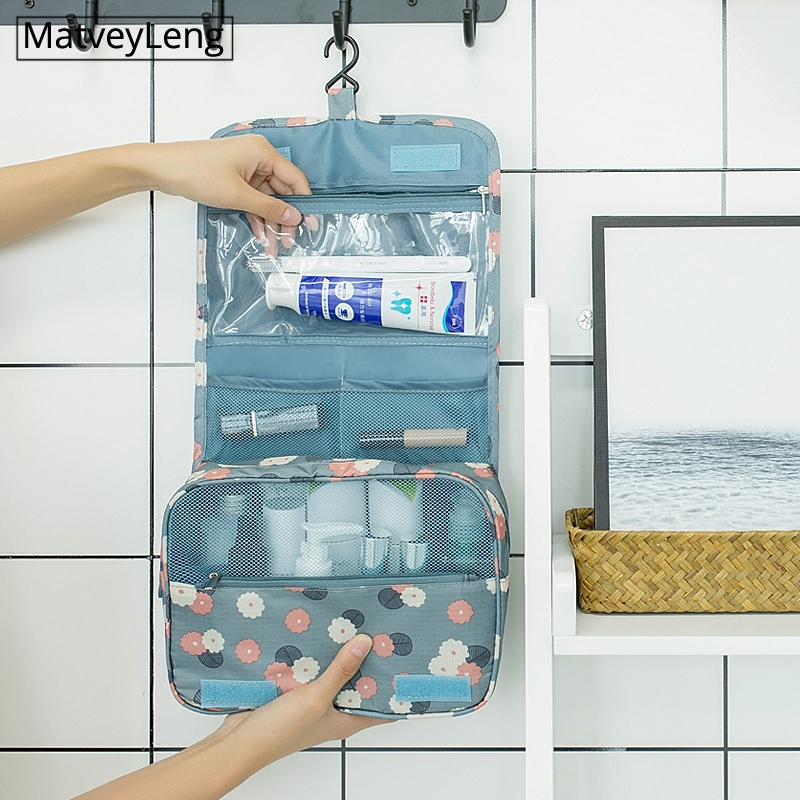 New Waterproof Packing Cubes Travel Large Capacity Storage Bag Portable Hook Wash Cosmetic Bag Fashion Travel Accessories