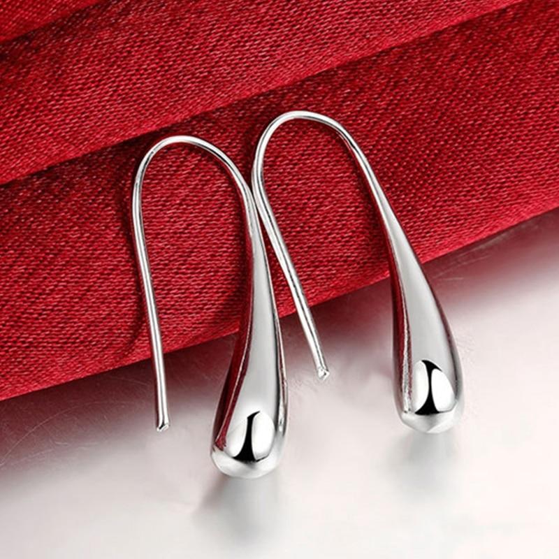 925 Silver Earring Fashion Jewelry Teardrop/Water drop/Raindrop Dangle Earrings For Women Fashion creative ear hook