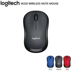 Logitech Original M220 2.4GHz bezprzewodowa mysz do gier 1000 DPI optyczna ergonomiczna mysz komputerowa do Mac OS/Window Support Test biurowy