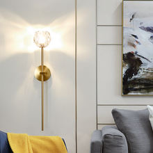 Nordic post modern wall lamp living room crystal tv background