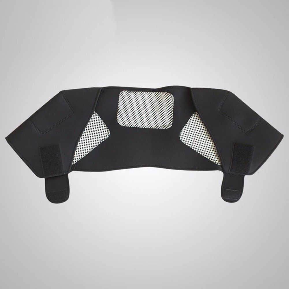 SBR + piel de imitación auto-calentamiento Unisex terapia de calor almohadilla de hombro Protector de apoyo cuerpo músculo alivio del dolor cuidado de la salud calefacción B