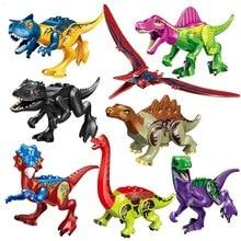 Jurassic Dinosaur Set Building Block Toy Figure Indoraptor Velociraptor Triceratop T-Rex World Dino Brick Compatible gudi 372pcs soviet t 62 main battle tanks military building block set 3 figure kids war game toy compatible