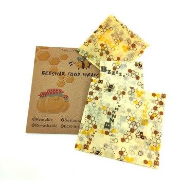 Envoltura de almacenamiento reutilizable de cero residuos, papel de envolver alimentos orgánico y sándwich y queso, envoltorio de cera de abejas sin BPA y plástico