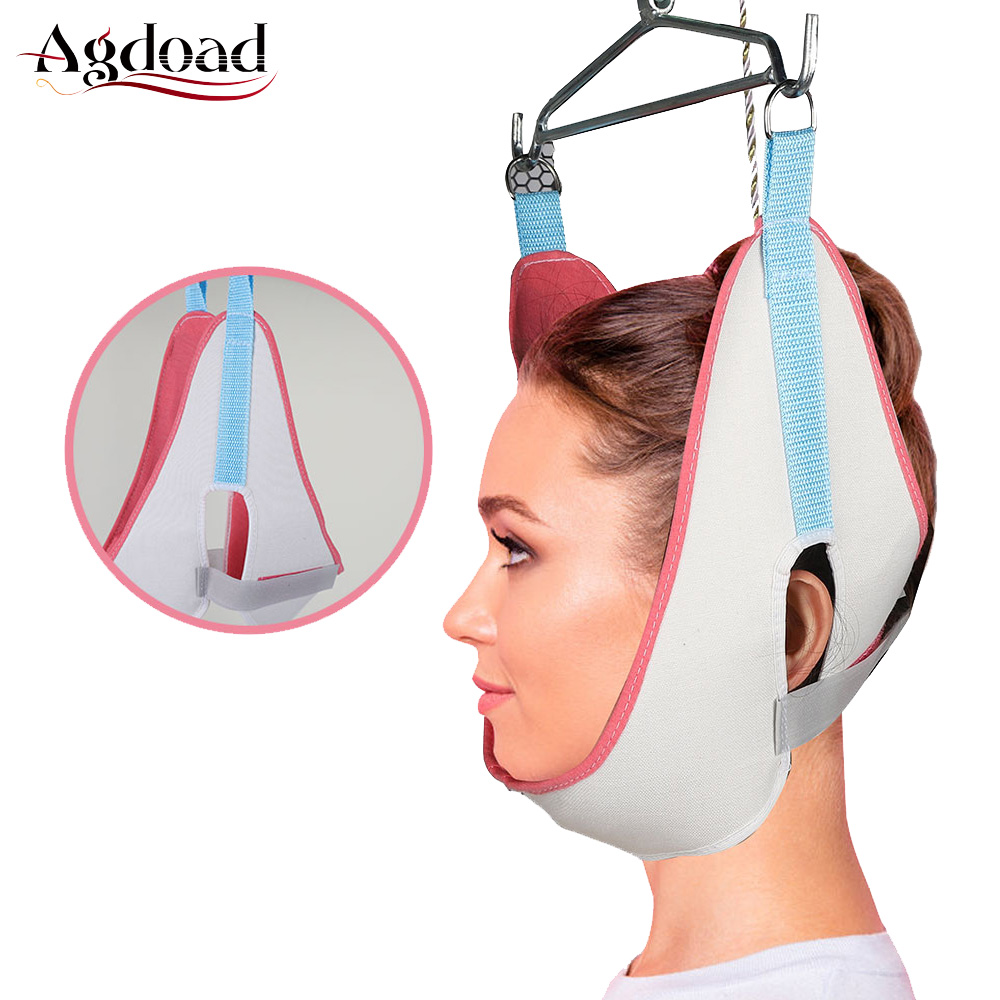 Adjustable Cervical Traction Belt Breathable Canvas Fixation Sling Tractor Stretch Chair Neck Care Tool Home Medical Equipment