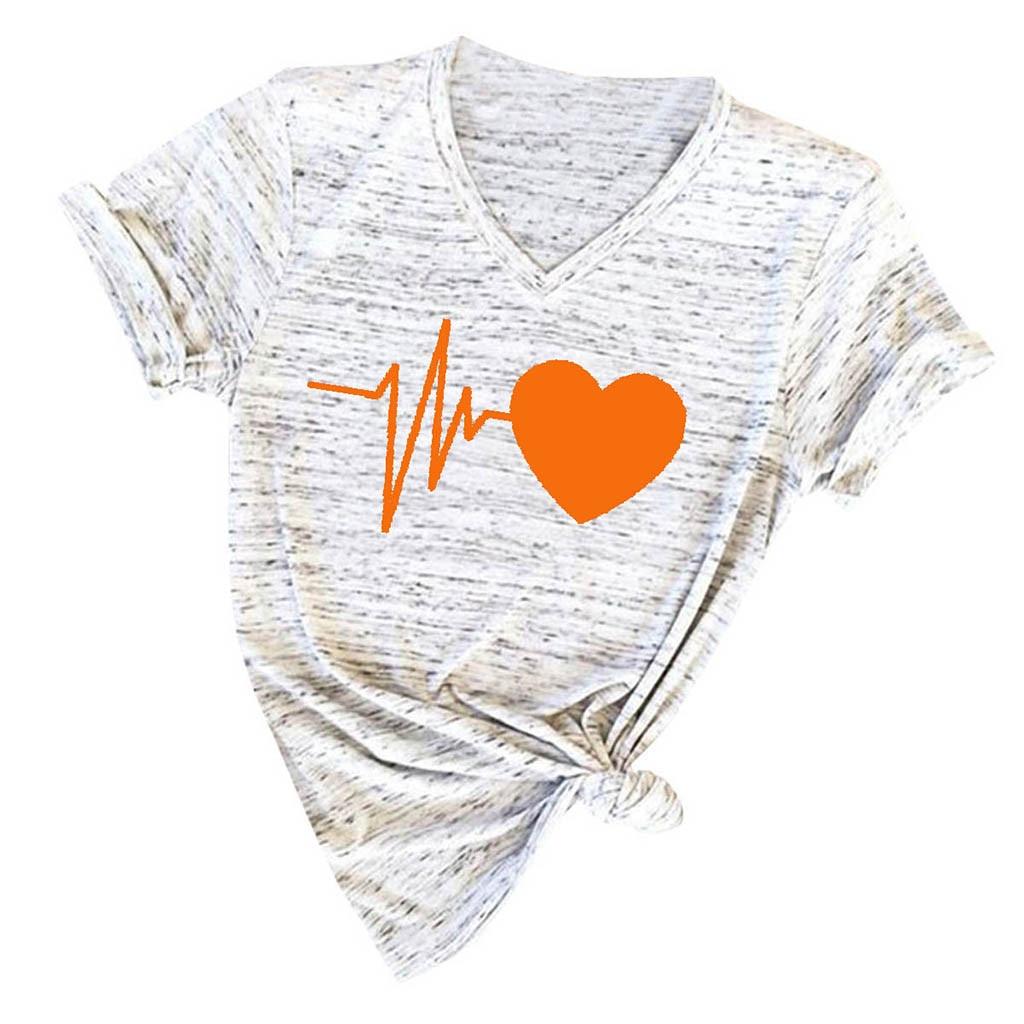 Ropa Camisetas Tops Y Blusas Ropa Camisetas Tops Y Blusas Camisetas Manga Corta Mujer Tallas Grandes Cuello En V T Shirt De Estampadas Clab64 Fr