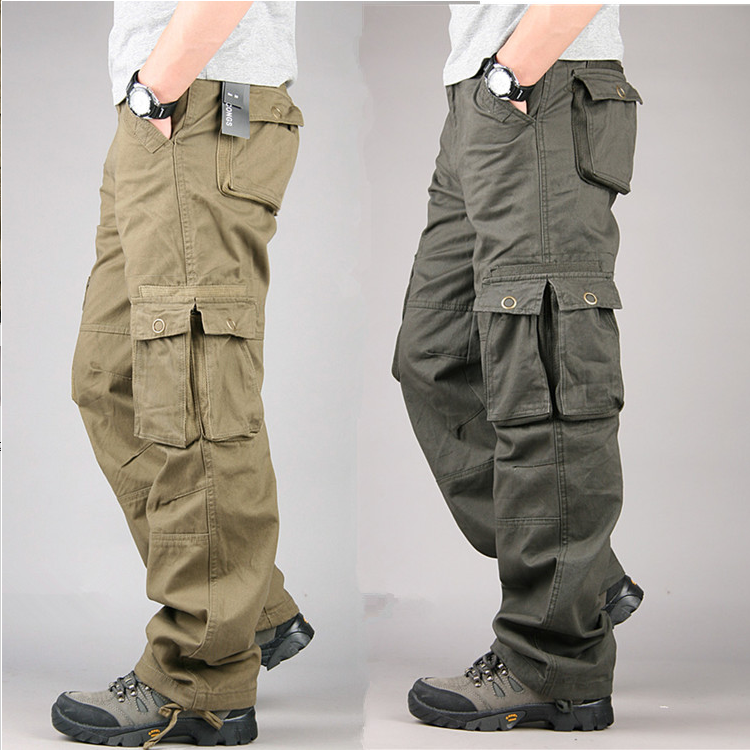 Men's Cargo Pants Cotton Casual Long Trousers New 2019 Plus Multi Pocket Pantalon Homme Men Fashion Military Tactical Pants Men