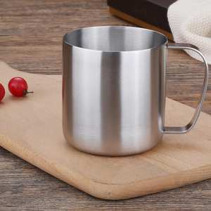 New 450ml Outdoor Camping Travel Stainless Steel Coffee Mug Handled Water Tea Cup