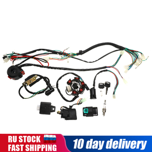 1set Full Complete Electrics Wiring Harness CDI STATOR 6 Coil Pole Ignition Switch For Motorcycle ATV Go Kart 125cc 150cc 250cc(China)