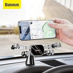 Soporte de teléfono de coche Baseus para iPhone Samsung, soporte de montaje por gravedad, soporte para salpicadero, soporte de coche para Huawei Xiaomi, soporte para teléfono móvil