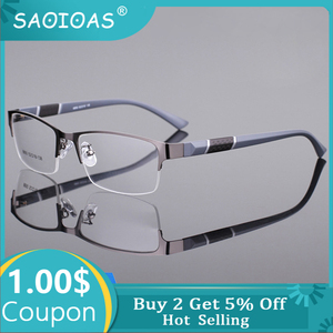SAOIOAS Reading Glasses Men Women High quality Half-frame Diopter Glasses Male Presbyopic Eyeglasses +1.0+1.5+2.0+2.5+3.0+3.5+4
