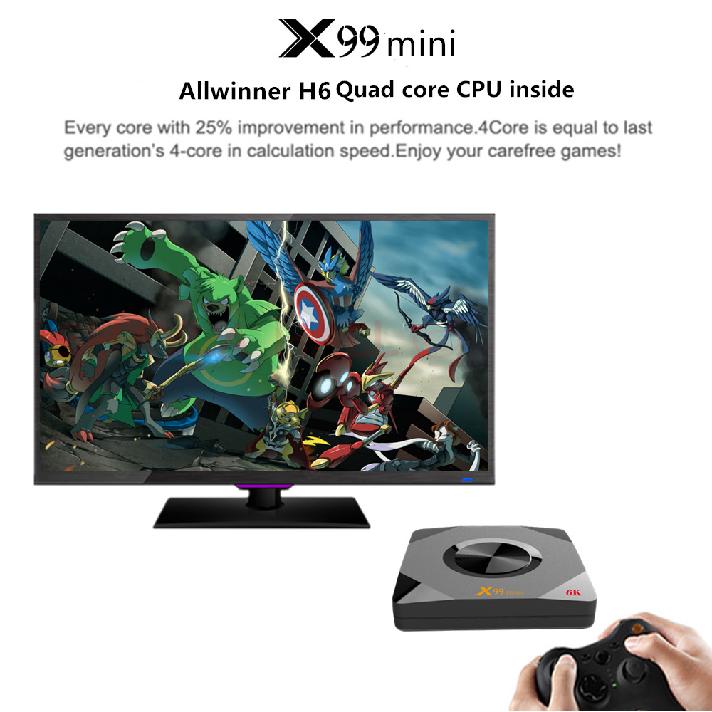 X99 mini Allwinner H6 Smart Android 9 0 TV Box 4GB RAM 64GB 32GB 16GB H 265 Wifi Media player 4K for Google Youtube Set Top Box in Set top Boxes from Consumer Electronics