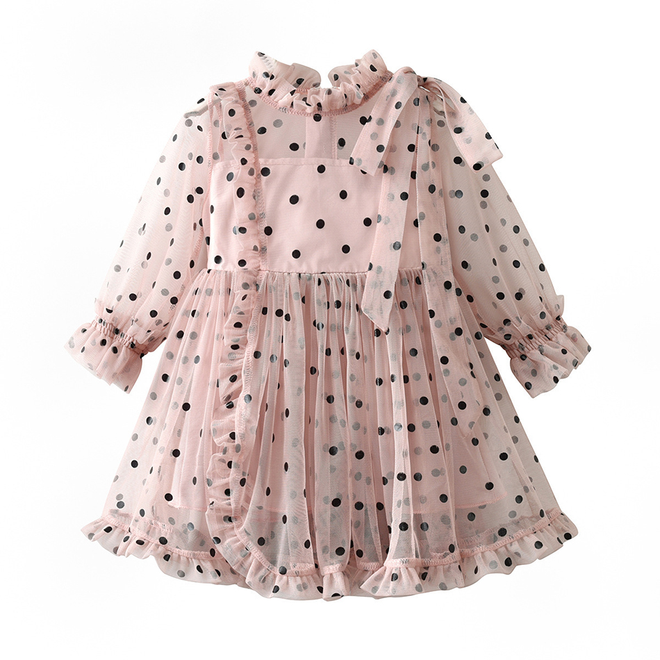 2020 Kids Long Sleeve Dresses for Girls Party Dress Birthday Tutu Dresses Children Casual Wear Princess Vestidos 1