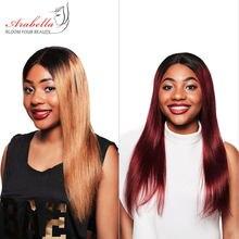 Arabella 1B/27 proste włosy koronkowa peruka na przód z dzieckiem włosy wstępnie oskubane Remy włosy 13*4 koronkowa peruka na przód kolorowe ludzki włos koronkowa peruka