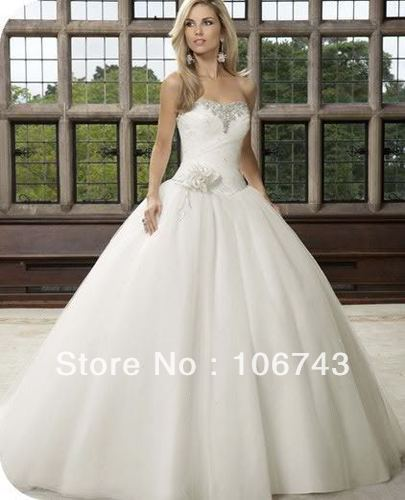 Free Shipping 2018 New Style Sexy Brides Custom Sweetheart Crystal Flowers Ball Bridal Gown Brides Mother Of The Bride Dresses